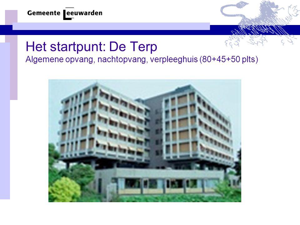 Het startpunt: De Terp Algemene opvang, nachtopvang, verpleeghuis (80+45+50 plts)