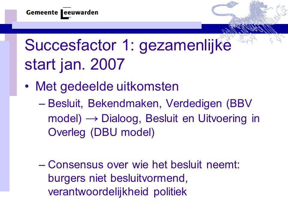 Succesfactor 1: gezamenlijke start jan.