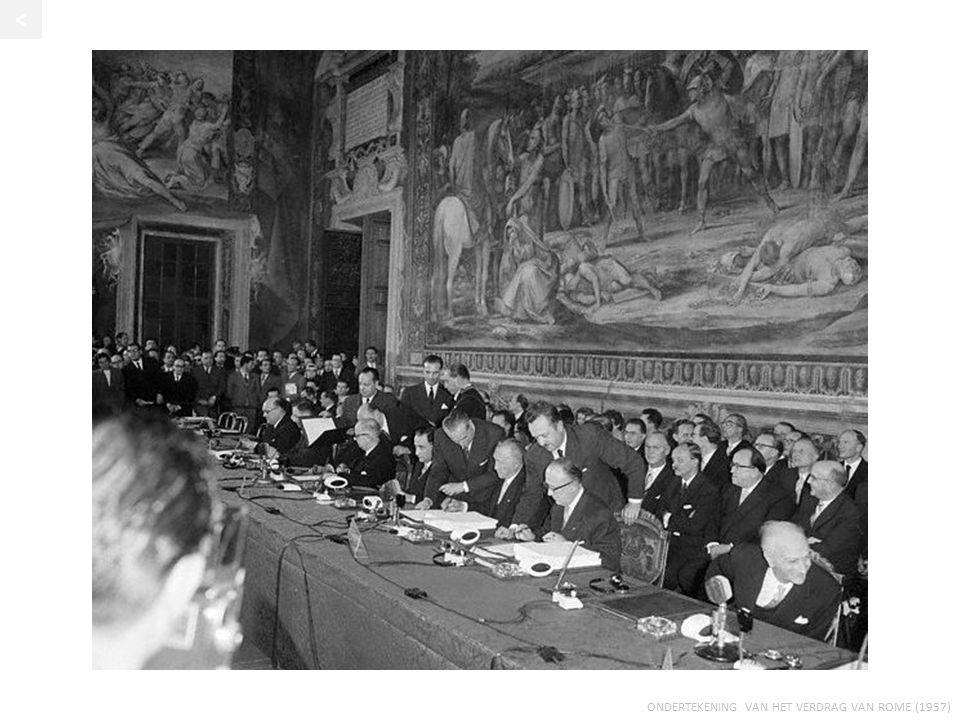 ONDERTEKENING VAN HET VERDRAG VAN ROME (1957) <