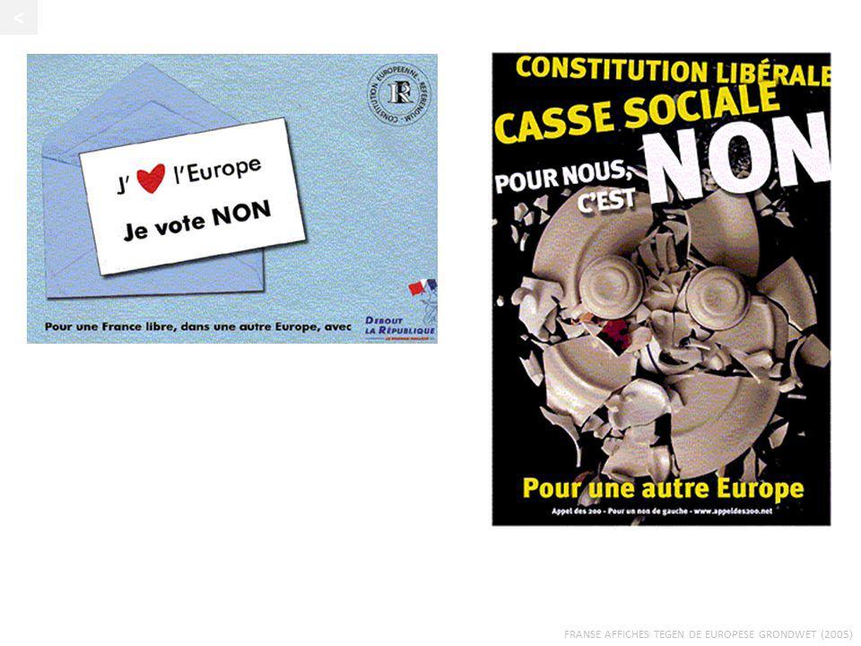 FRANSE AFFICHES TEGEN DE EUROPESE GRONDWET (2005) <