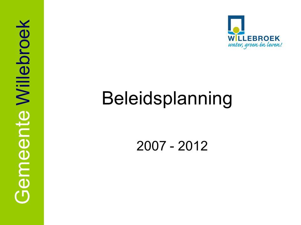 Gemeente Willebroek Beleidsplanning 2007 - 2012