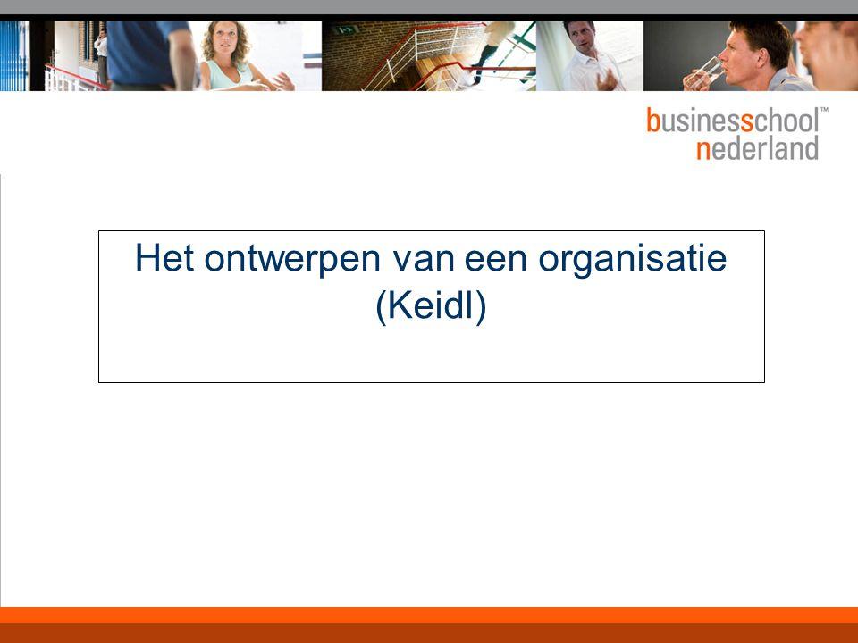 Het ontwerpen van een organisatie (Keidl)
