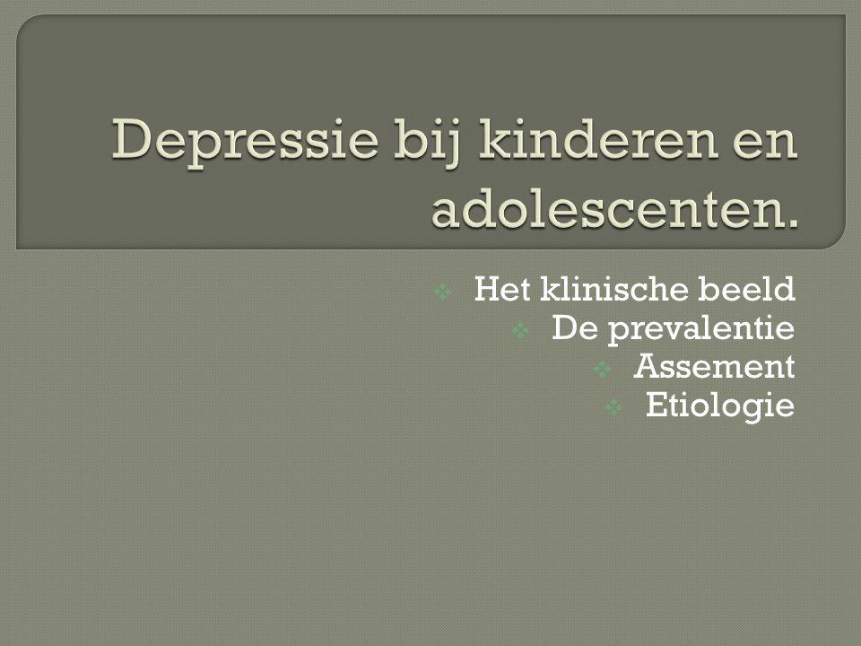  Depressie kan niet beschouwd worden als een transitiemoment binnen de ontwikkeling van kinderen.