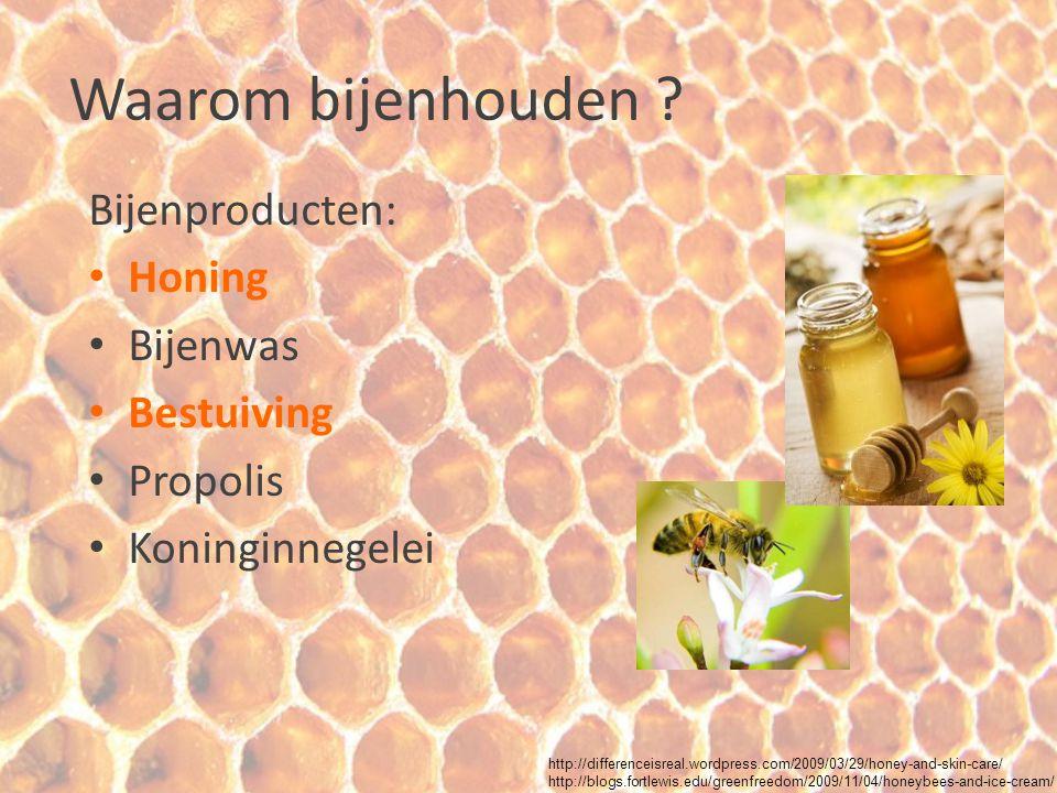 Waarom bijenhouden ? Bijenproducten: Honing Bijenwas Bestuiving Propolis Koninginnegelei http://differenceisreal.wordpress.com/2009/03/29/honey-and-sk