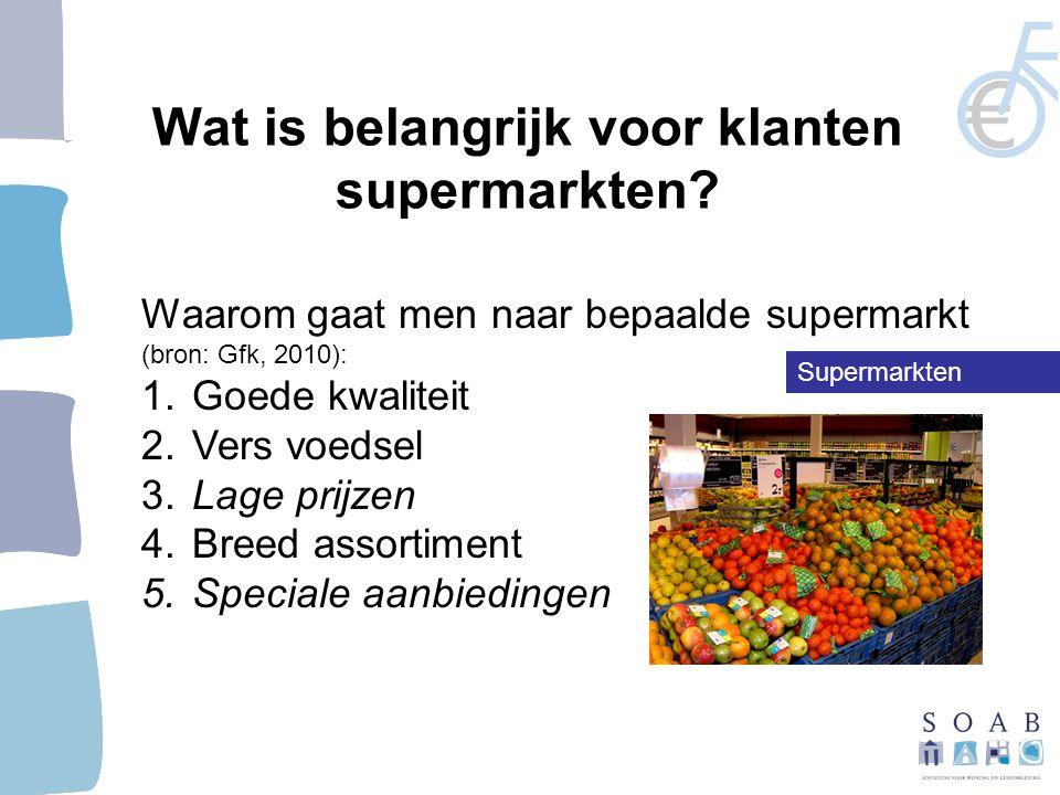 Wat is belangrijk voor klanten supermarkten.