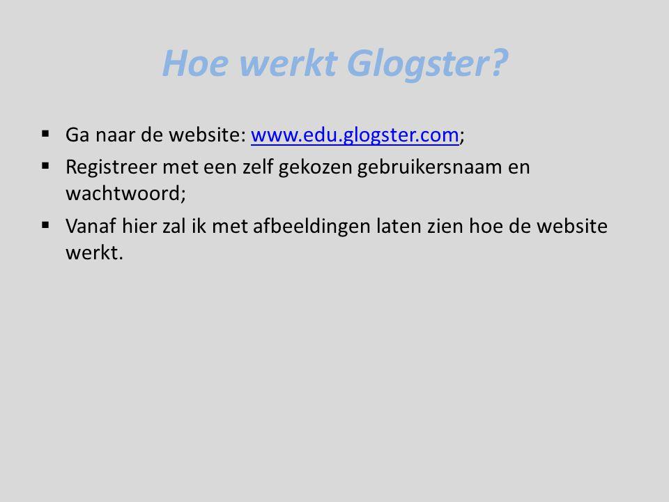 Hoe werkt Glogster.