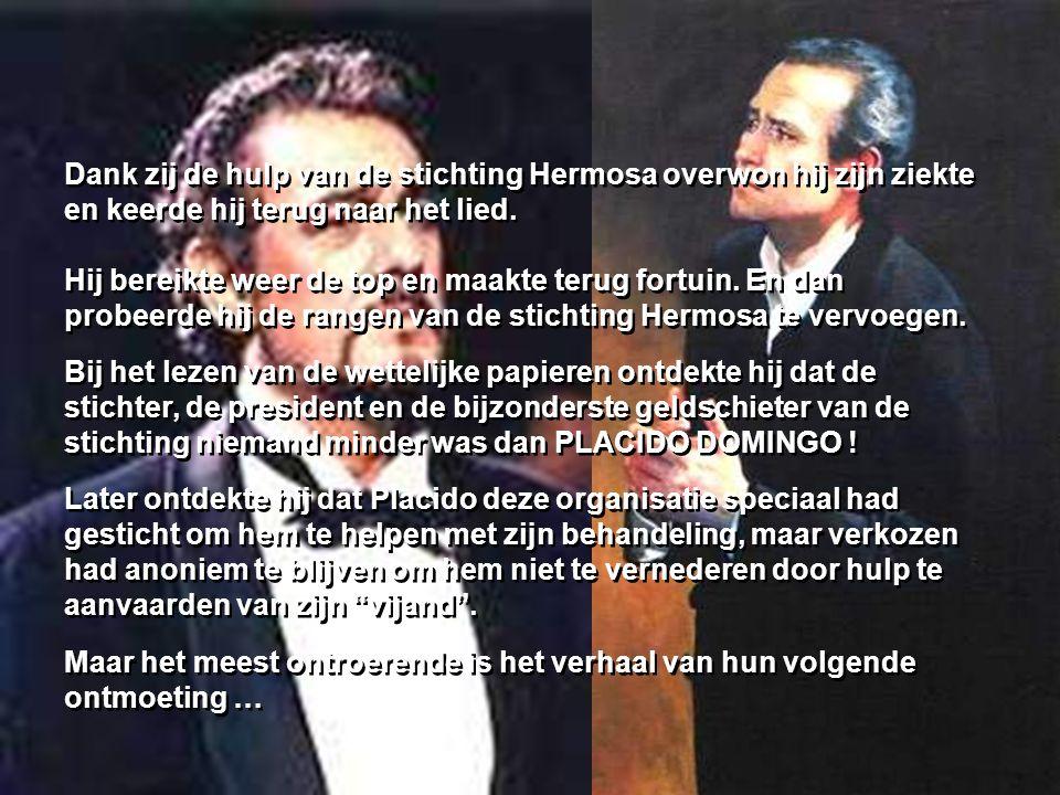 In 1987 ontmoette Carreras een veel ergere vijand dan Domingo. Hij kreeg LEUKEMIE ! Zijn gevecht tegen de kanker was zeer moeilijk. Hij kreeg een tran