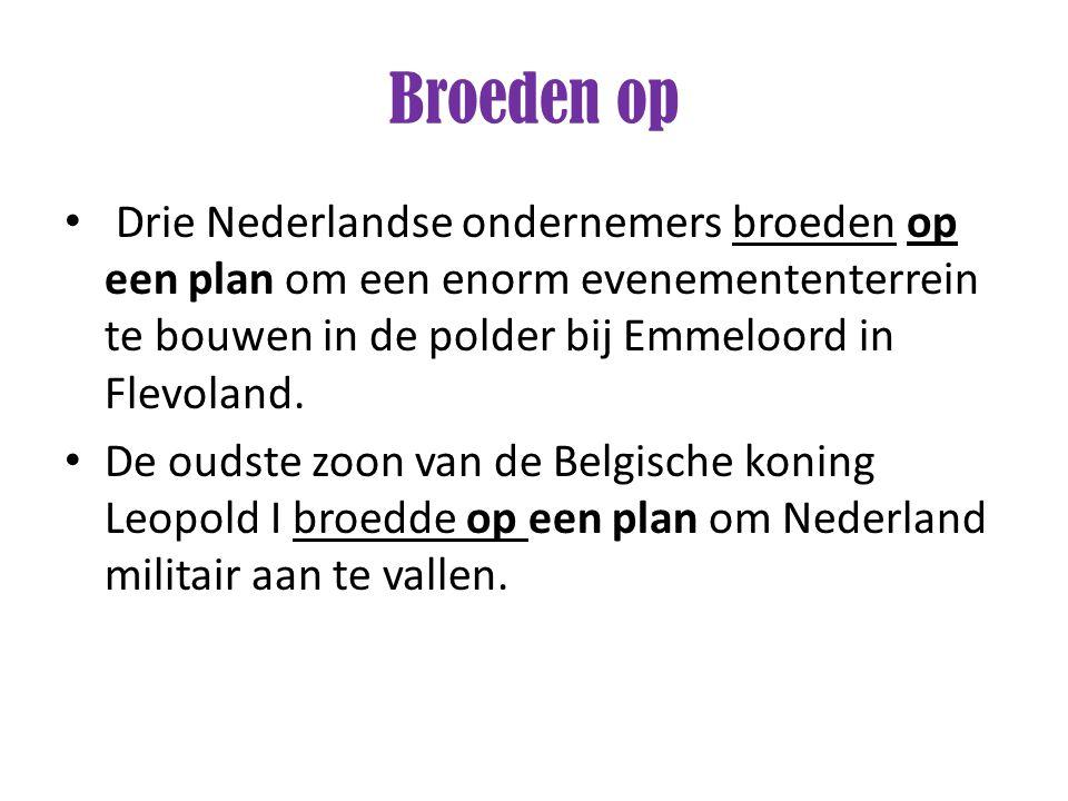 Drie Nederlandse ondernemers broeden op een plan om een enorm evenemententerrein te bouwen in de polder bij Emmeloord in Flevoland. De oudste zoon van