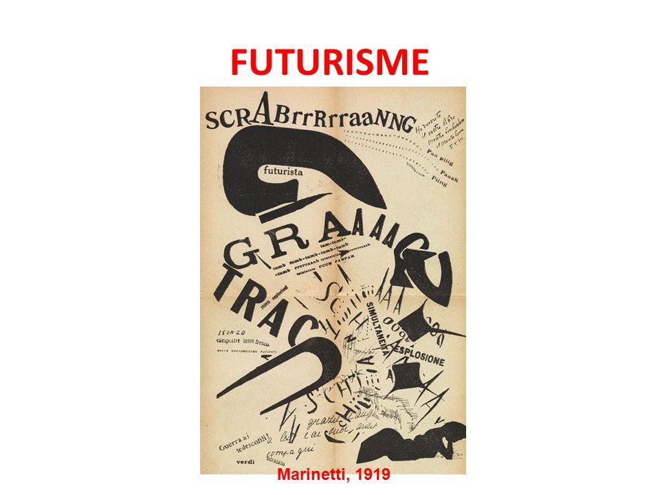 FUTURISME Marinetti, 1919