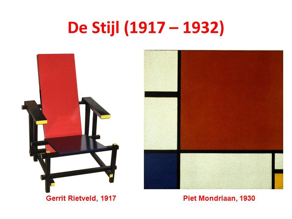 Piet Mondriaan, 1930Gerrit Rietveld, 1917