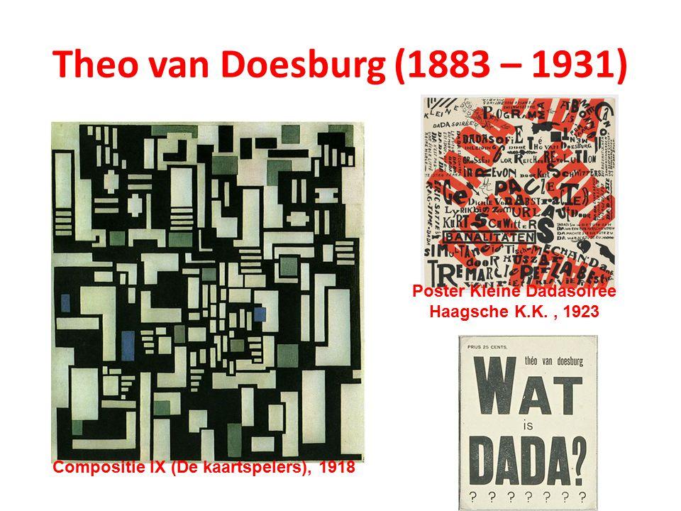 Theo van Doesburg (1883 – 1931) Compositie IX (De kaartspelers), 1918 Poster Kleine Dadasoirée Haagsche K.K., 1923