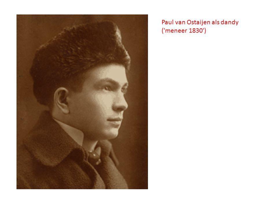 Paul van Ostaijen als dandy ('meneer 1830')