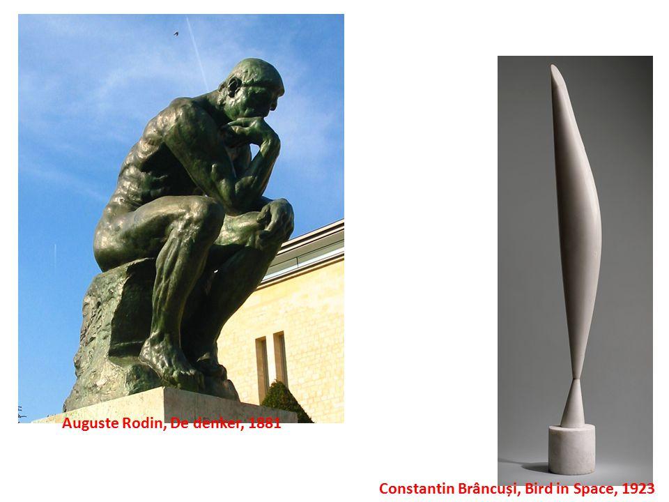 Constantin Brâncuși, Bird in Space, 1923 Auguste Rodin, De denker, 1881