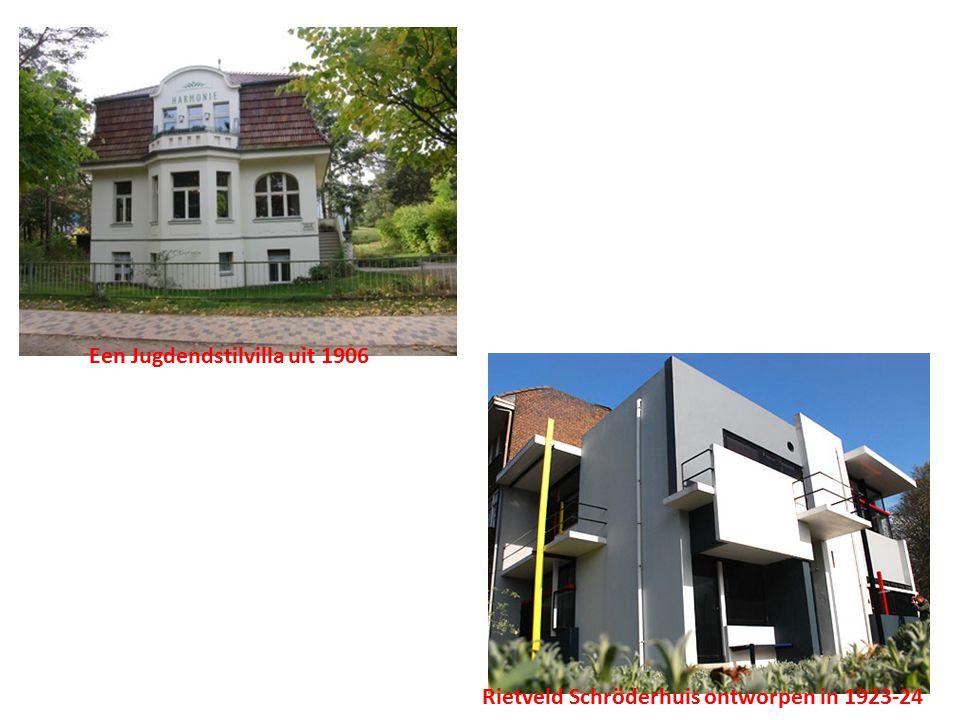 Rietveld Schröderhuis ontworpen in 1923-24 Een Jugdendstilvilla uit 1906