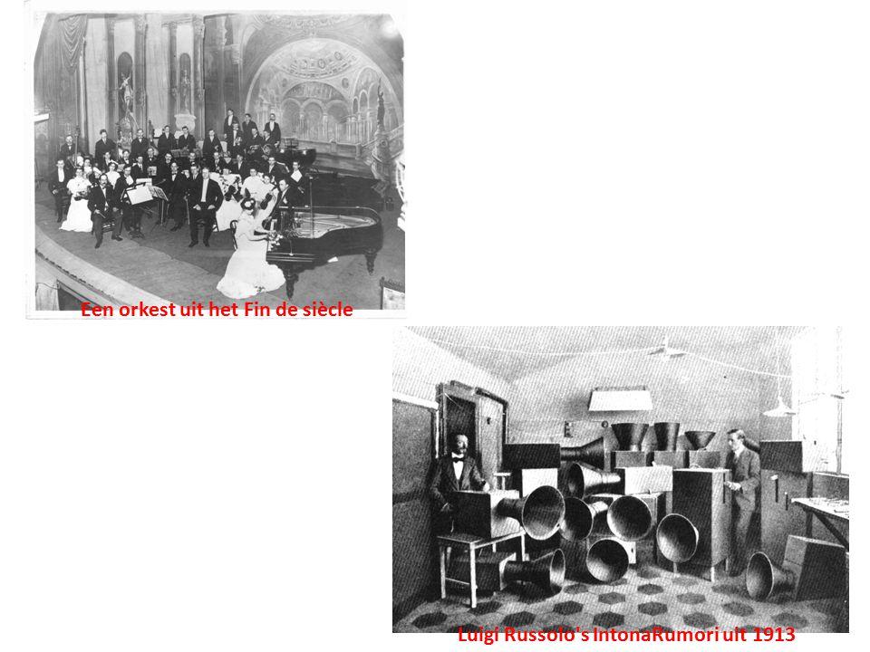 Een orkest uit het Fin de siècle Luigi Russolo's IntonaRumori uit 1913