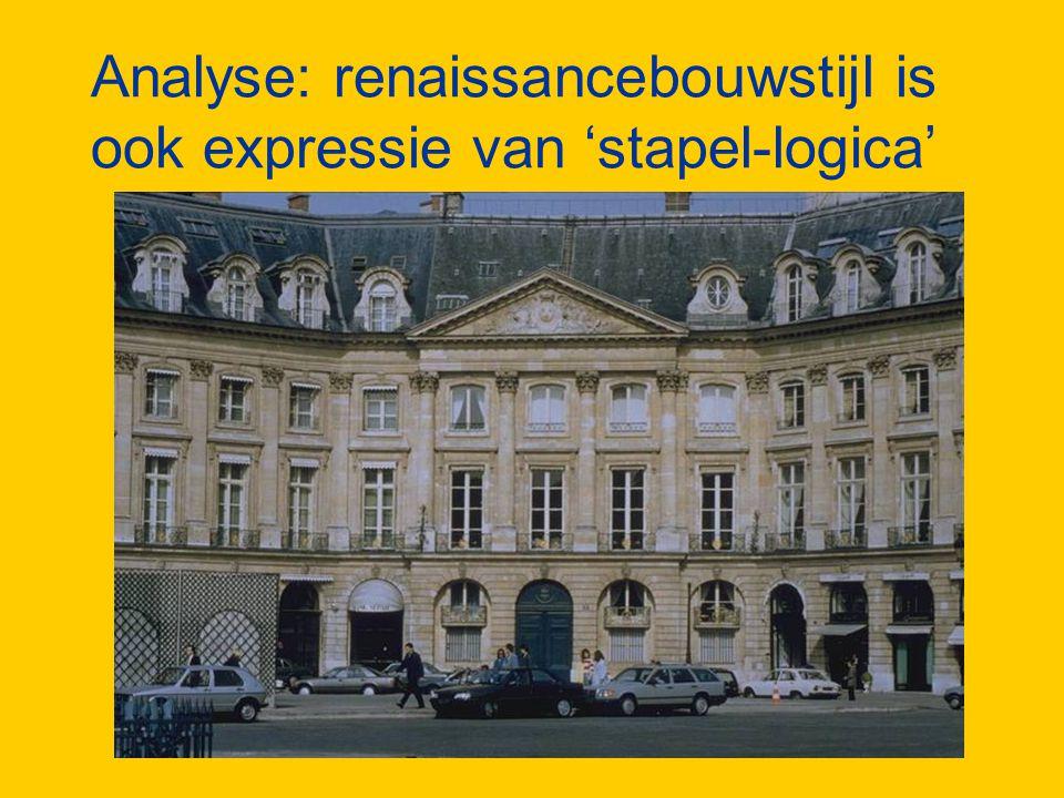 Analyse: renaissancebouwstijl is ook expressie van 'stapel-logica'