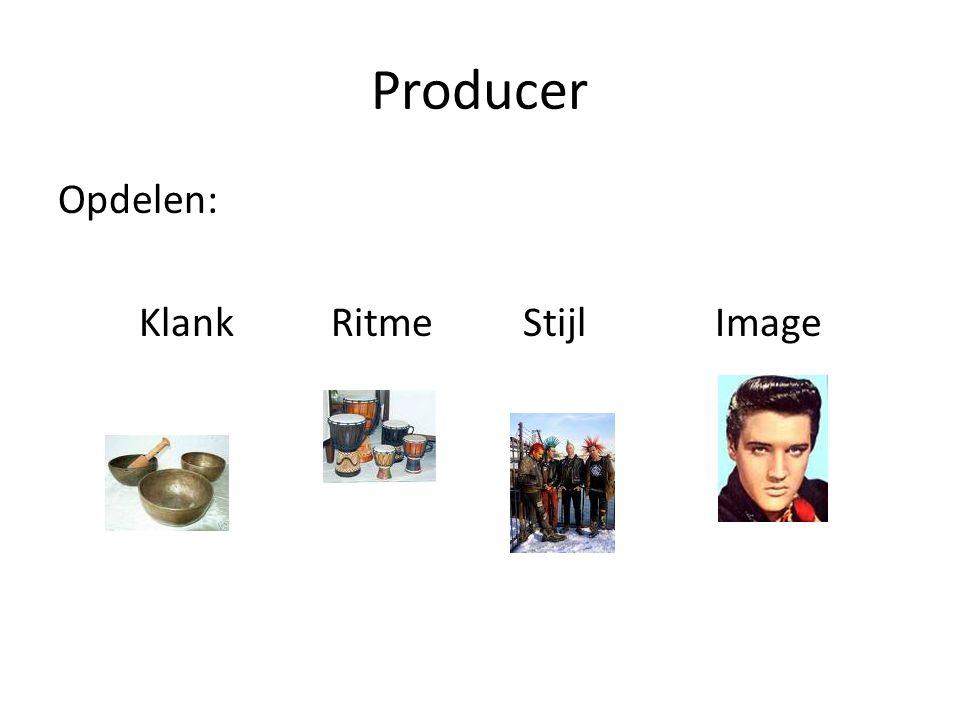 Producer Technisch Producer Uitvoerend producent/Executive Producer