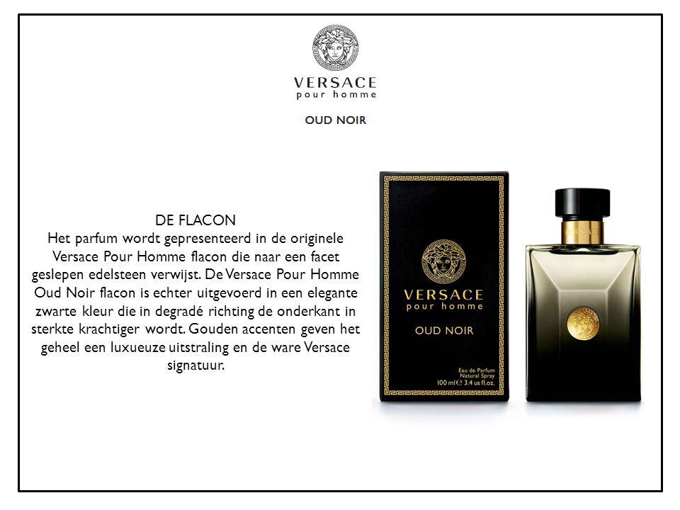 DE FLACON Het parfum wordt gepresenteerd in de originele Versace Pour Homme flacon die naar een facet geslepen edelsteen verwijst. De Versace Pour Hom