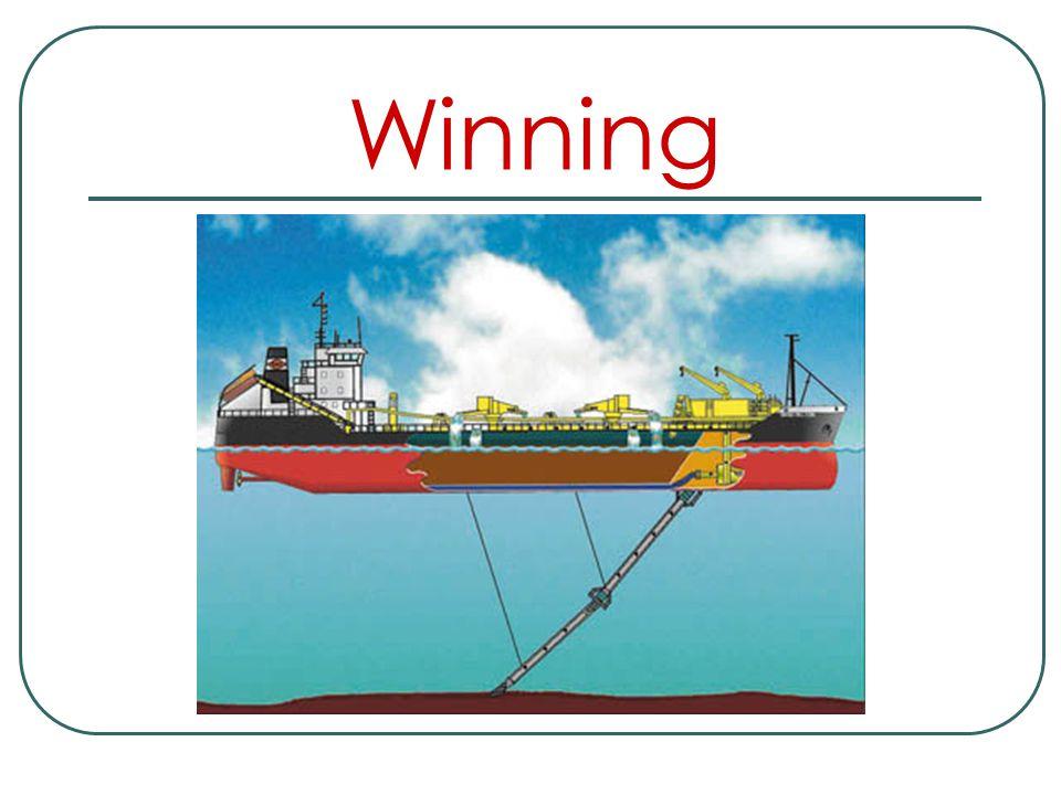 Winning Dagelijks vertrekken baggerschepen vanuit de verschillen-de havens die België rijk is naar zee. Terwijl deze schepen zich naar de zandbanken b