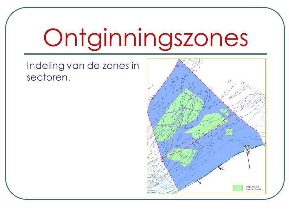 Ontginningszones Indeling van de zones in sectoren.