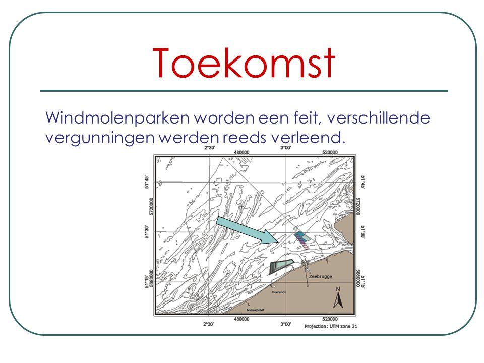 Windmolenparken worden een feit, verschillende vergunningen werden reeds verleend.