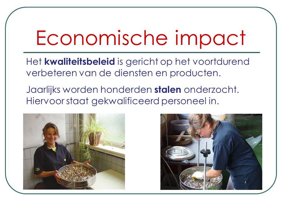 Economische impact Het kwaliteitsbeleid is gericht op het voortdurend verbeteren van de diensten en producten.