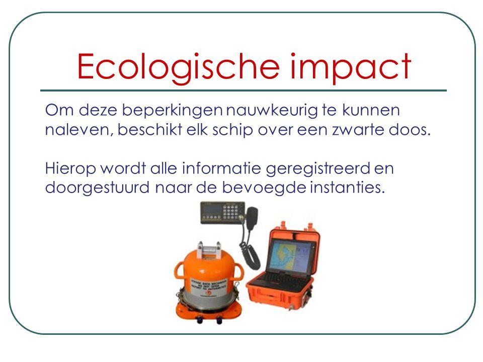 Ecologische impact Om de impact zo beperkt mogelijk te houden worden beperkingen opgelegd op: de hoeveelheid die gebaggerd wordt, hoe diep men baggert
