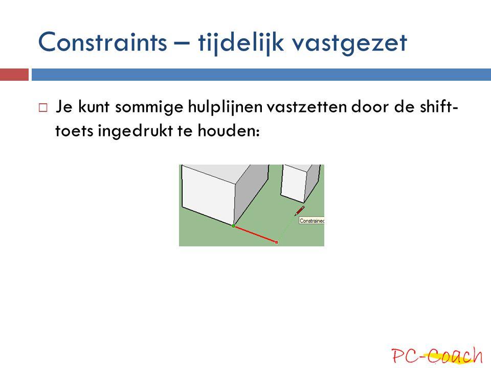 Constraints - bewegingen  Bewegingen (m.n.