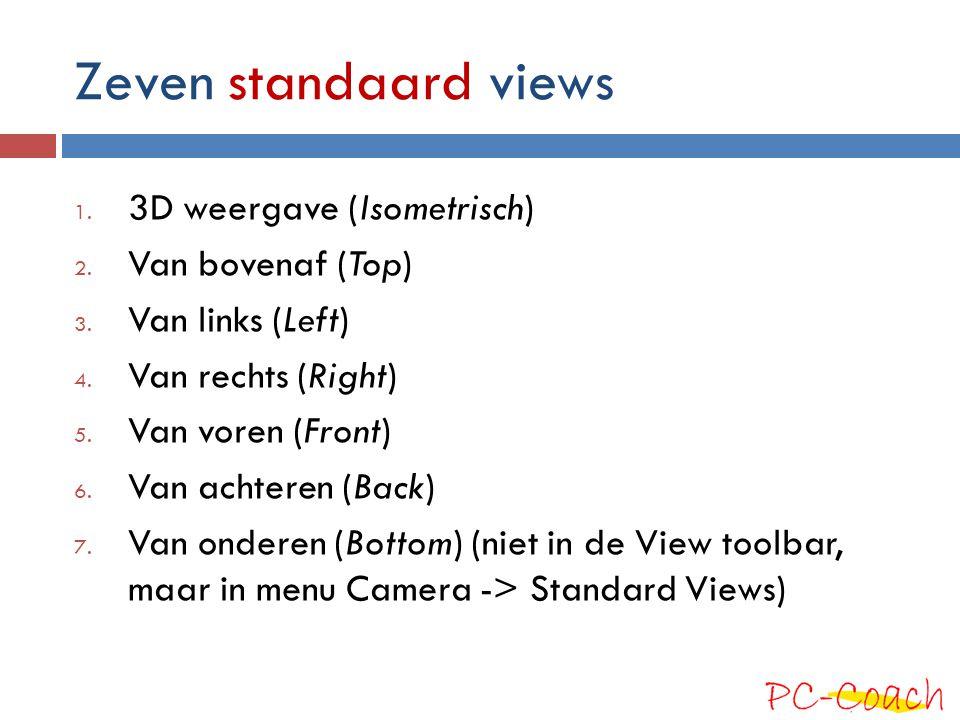 Drie perspectief mogelijkheden  Menu Camera biedt drie perspectief opties: 1.
