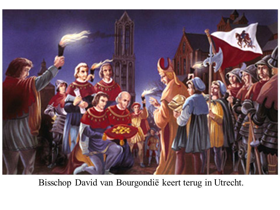 Bisschop David van Bourgondië keert terug in Utrecht.