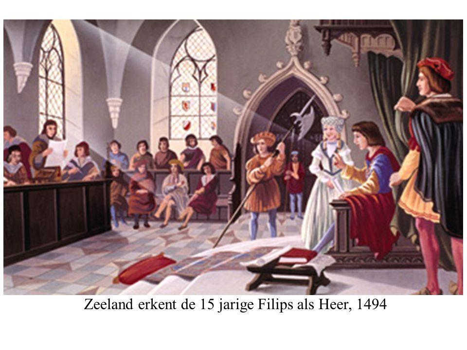 Zeeland erkent de 15 jarige Filips als Heer, 1494