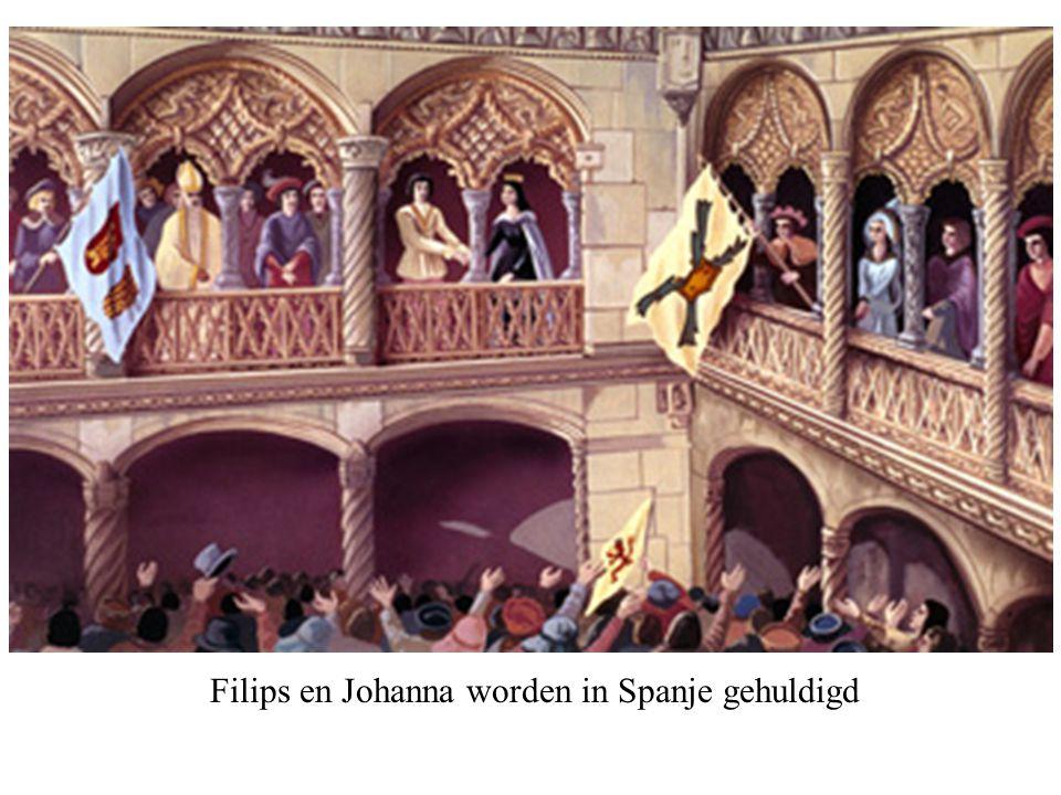 Filips en Johanna worden in Spanje gehuldigd
