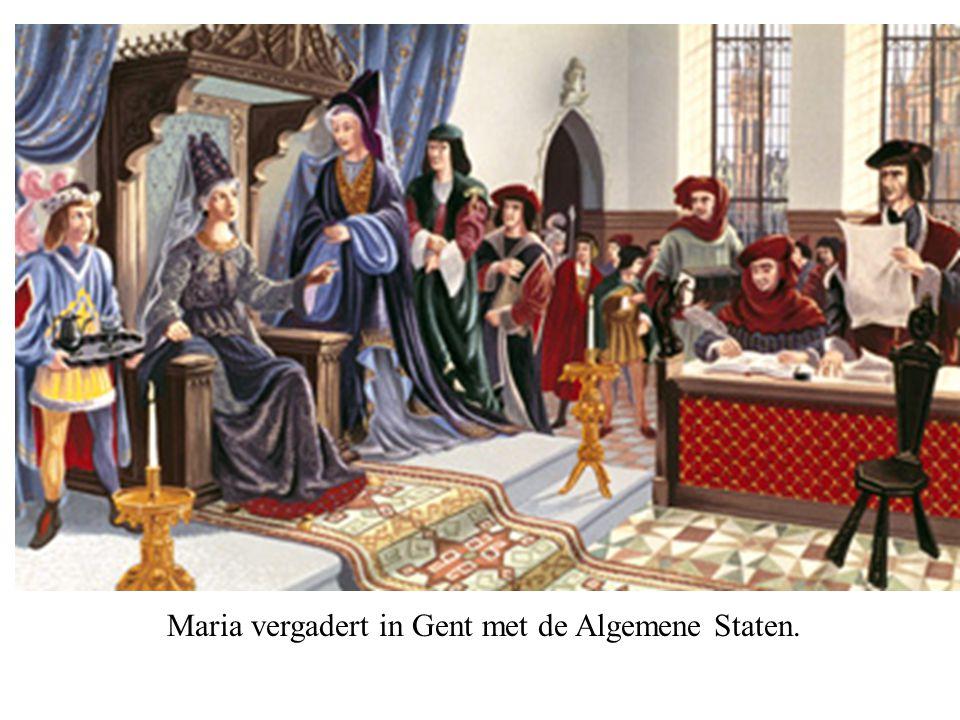 Maria vergadert in Gent met de Algemene Staten.