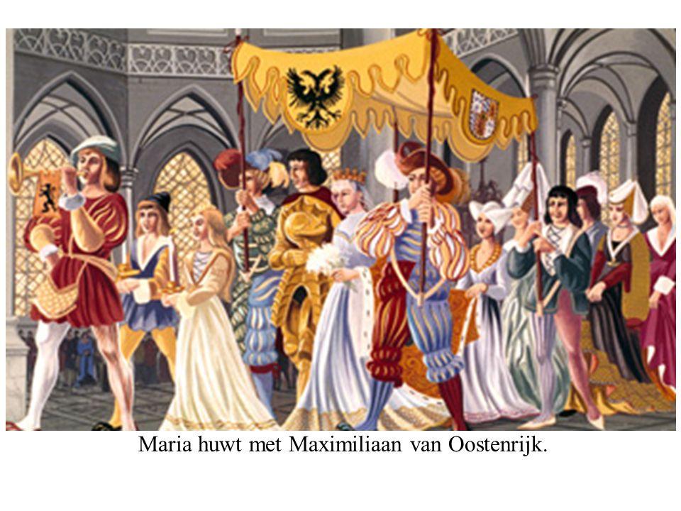 Maria huwt met Maximiliaan van Oostenrijk.