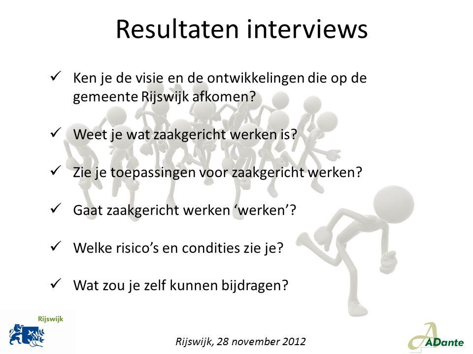 Ken je de visie en de ontwikkelingen die op de gemeente Rijswijk afkomen? Weet je wat zaakgericht werken is? Zie je toepassingen voor zaakgericht werk