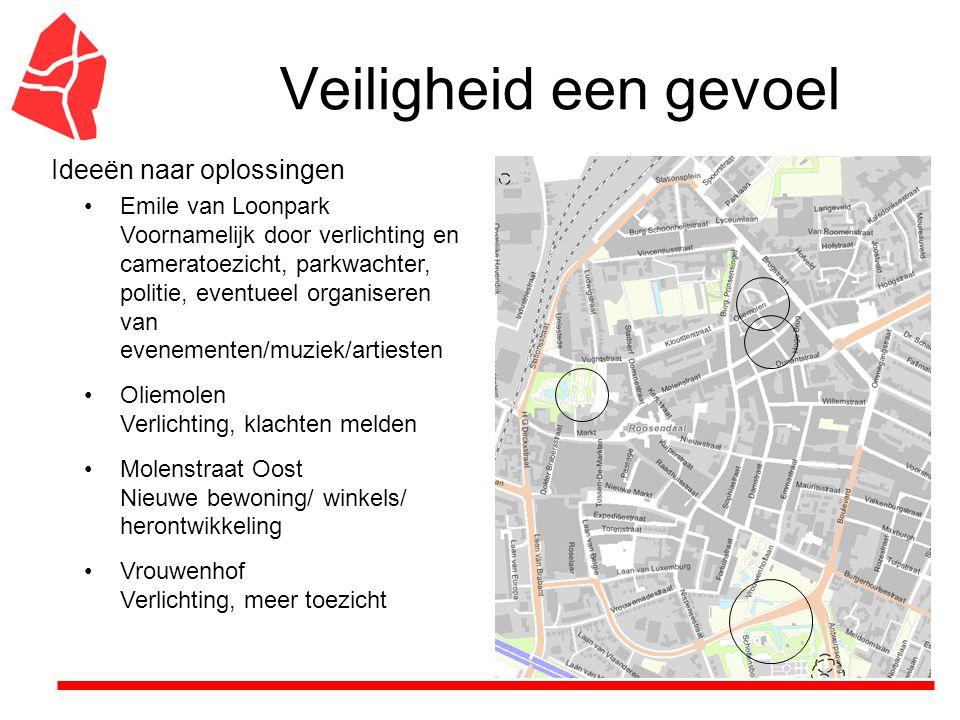 Veiligheid een gevoel Brugstraat/station Verlichting en ander soort winkels/ bedrijven, ook meer bedrijvigheid rond het station zoals restauratie, kiosk, nieuwe winkels en taxi's