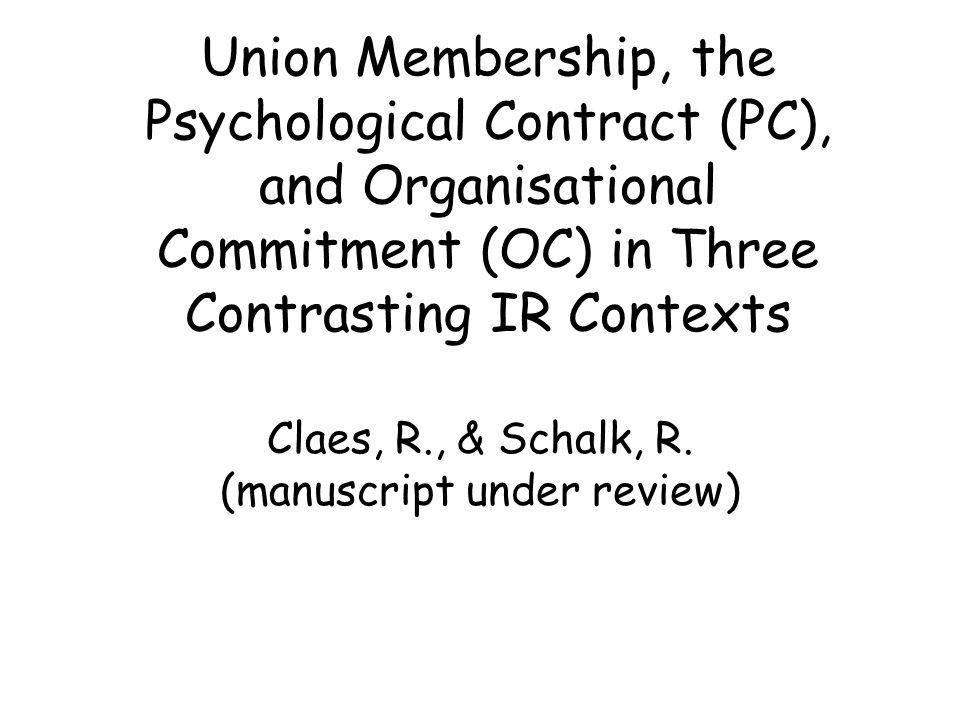 Lid zijn van een grote vakbond die een sterke partner is in nationale IR  percepties van breder PC  meer OC!