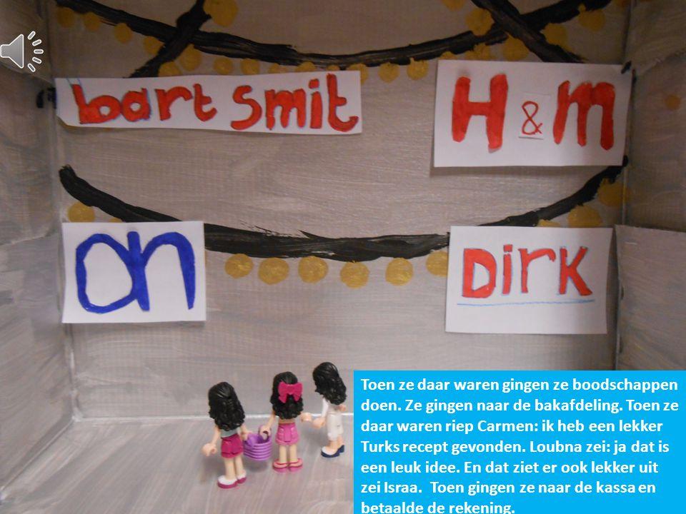 Het is 3 oktober.Israa,Carmen en Loubna werden wakker en kleden zich aan. En gingen naar de winkel.