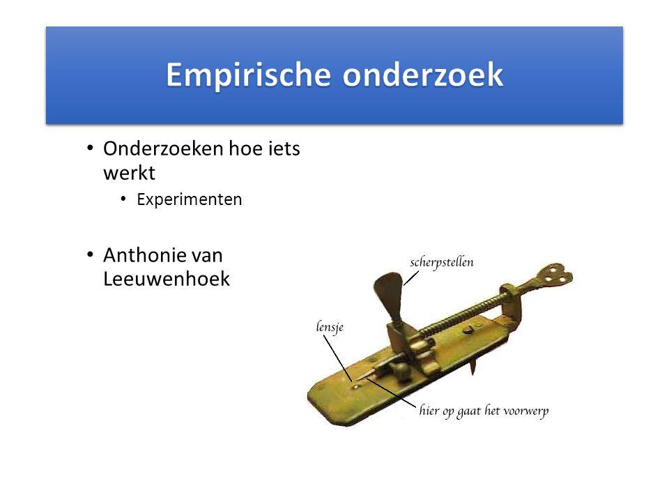 Onderzoeken hoe iets werkt Experimenten Anthonie van Leeuwenhoek