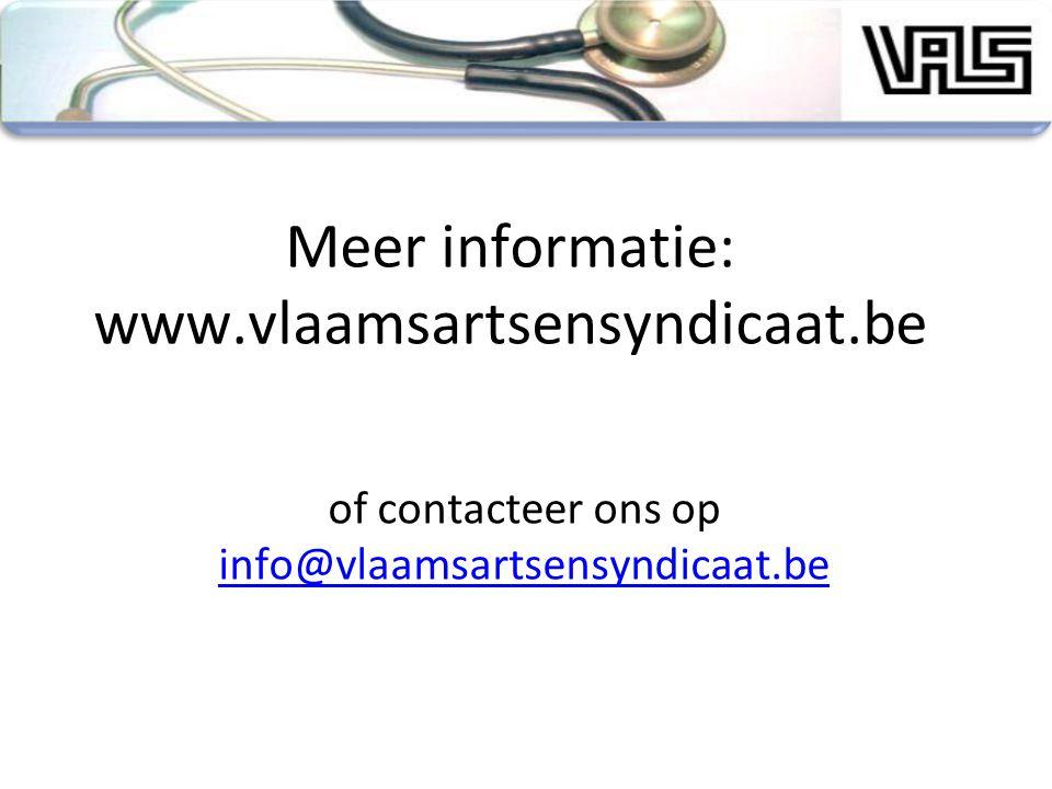 Meer informatie: www.vlaamsartsensyndicaat.be of contacteer ons op info@vlaamsartsensyndicaat.be info@vlaamsartsensyndicaat.be