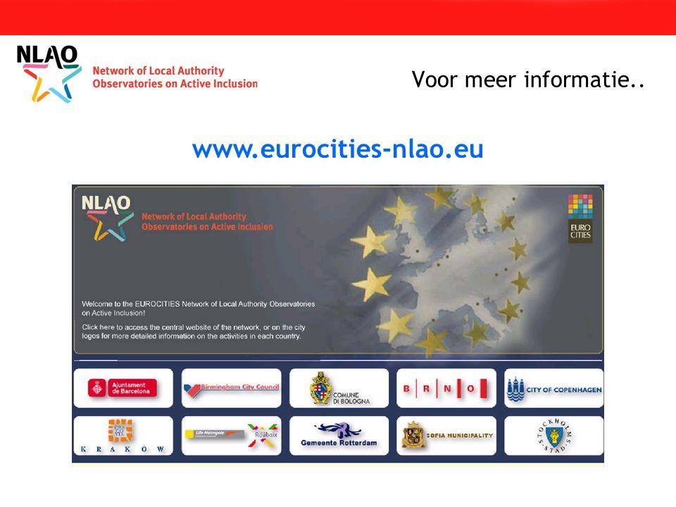 Voor meer informatie.. www.eurocities-nlao.eu