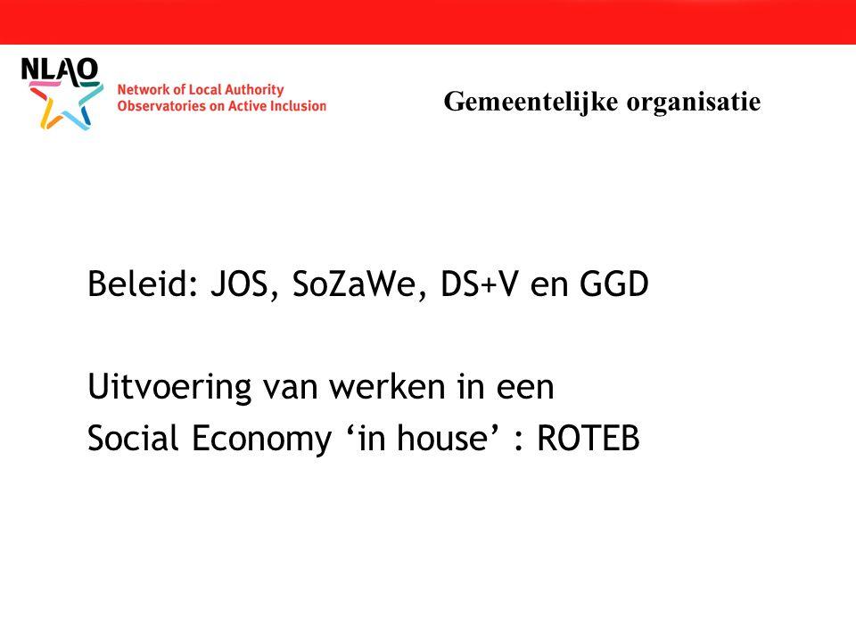 Beleid: JOS, SoZaWe, DS+V en GGD Uitvoering van werken in een Social Economy 'in house' : ROTEB Gemeentelijke organisatie