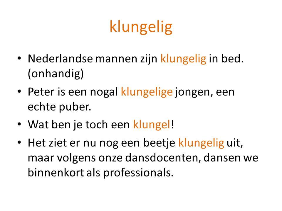 Nederlandse mannen zijn klungelig in bed.
