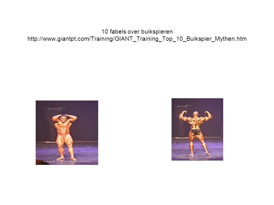 10 fabels over buikspieren http://www.giantpt.com/Training/GIANT_Training_Top_10_Buikspier_Mythen.htm