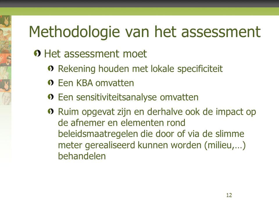 Methodologie van het assessment 12 Het assessment moet Rekening houden met lokale specificiteit Een KBA omvatten Een sensitiviteitsanalyse omvatten Ru