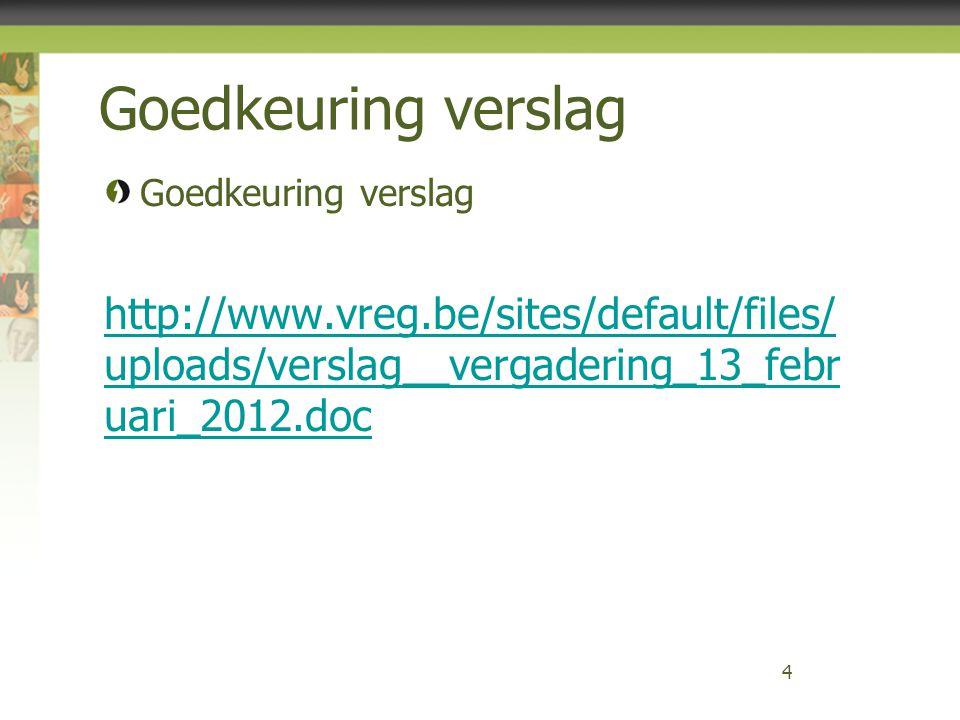 Vlaamse Regulator van de Elektriciteits- en Gasmarkt 75 Varia?