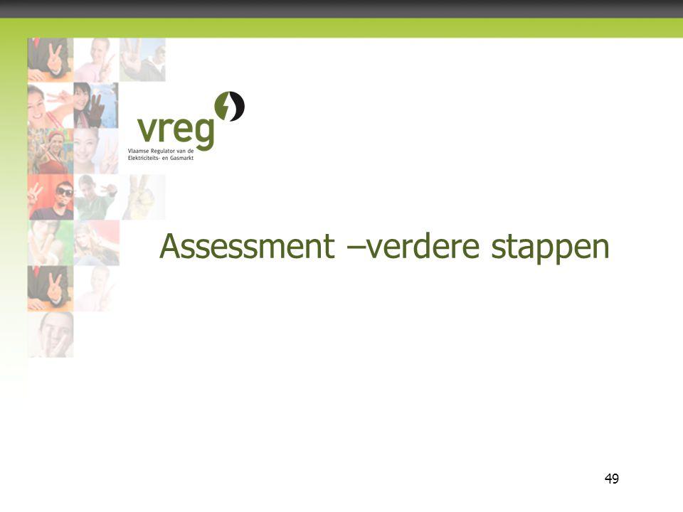 Vlaamse Regulator van de Elektriciteits- en Gasmarkt 49 Assessment –verdere stappen