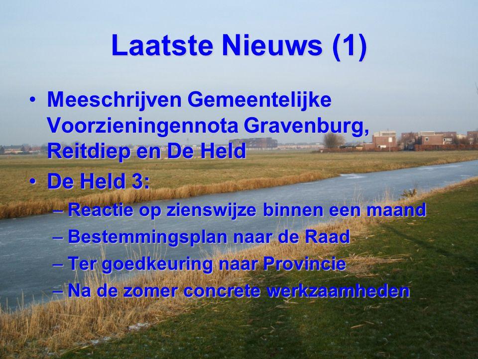 Laatste Nieuws (1) Meeschrijven Gemeentelijke Voorzieningennota Gravenburg, Reitdiep en De HeldMeeschrijven Gemeentelijke Voorzieningennota Gravenburg