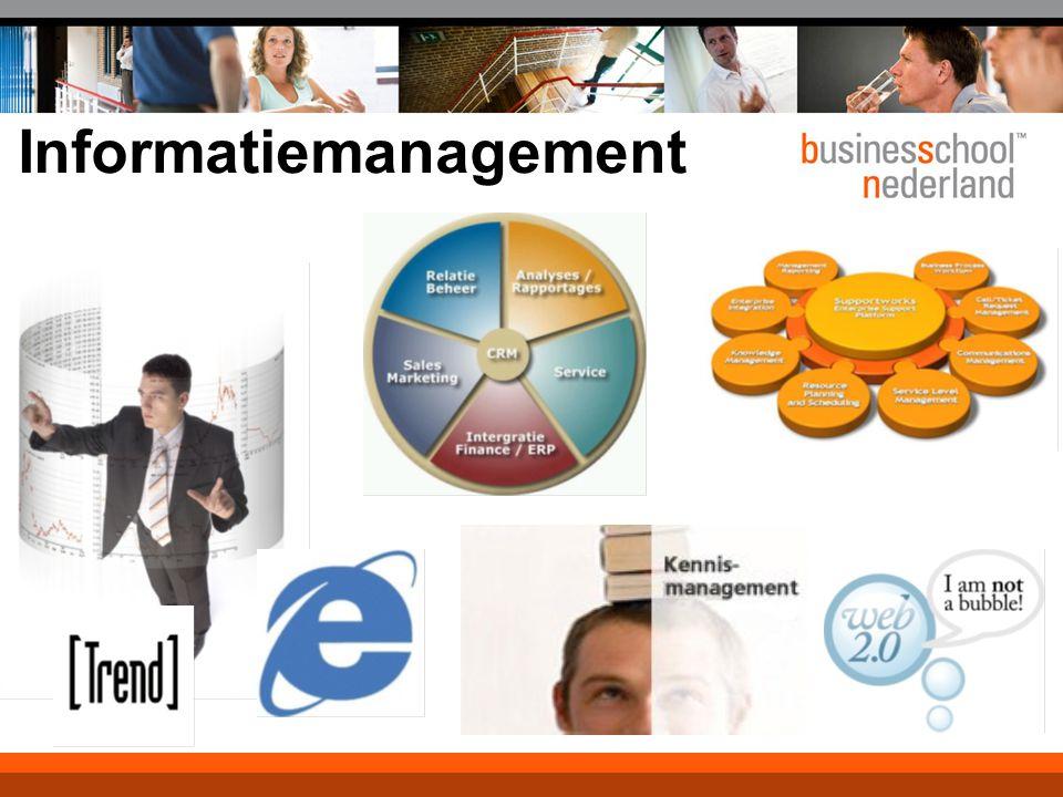 Programma 5 maart 2008 09.30 - 10.30 Rondje van de zaak 10.30 - 11.30 Wat is Informatiemanagement .