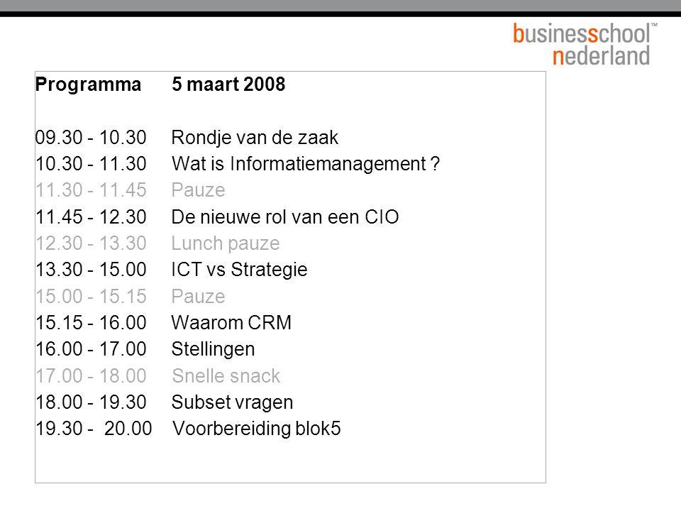 Wat is Informatiemanagement Strategie Structuur Operations Business Informatie/ Comm.